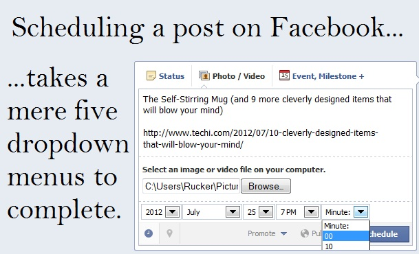 Scheduling a Post on Facebook