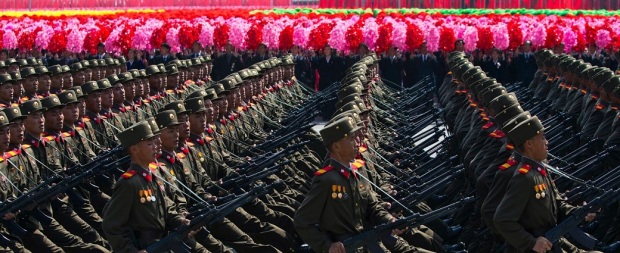 North Korean Army Marches
